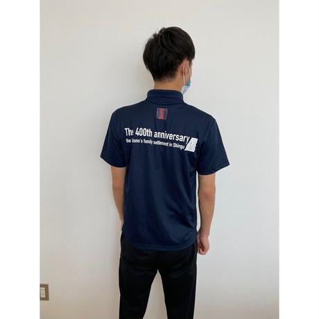新宮城跡 水野家入部400年記念ポロシャツ(紺)