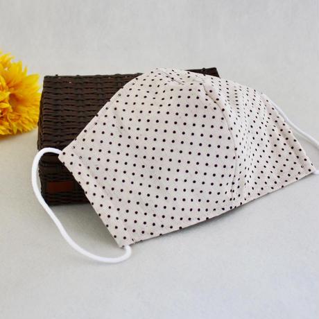 ポケット付き大人用立体マスク(M)【Polka dotⅠ】