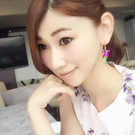 violet swing bijou pierce♡可憐♡すみれのビジューピアス♡