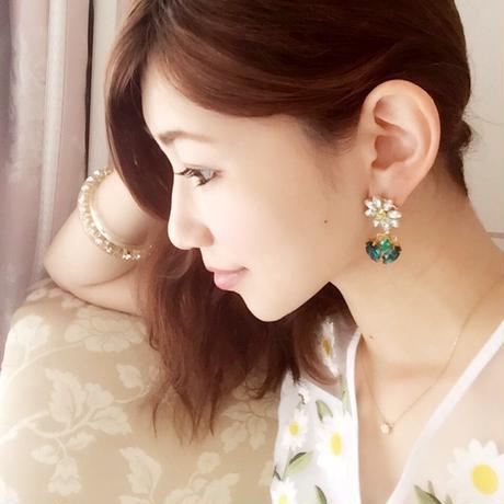 swing daisy pierce♡ゆらゆらデイジーピアス♡