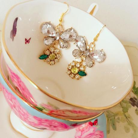 daisy&butterfly bijou pierce♡送料無料♡