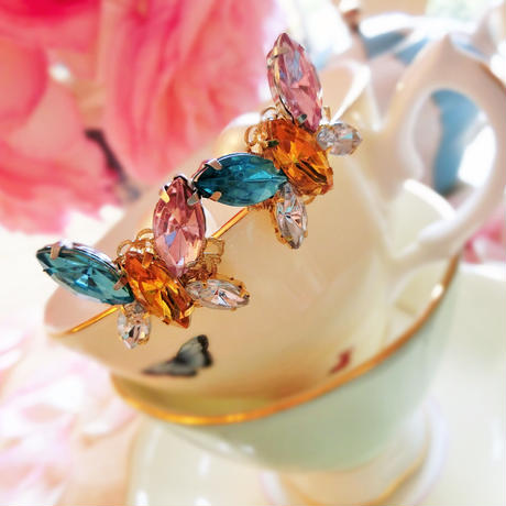 Candy  Butterfly pierce♡キャンディーバタフライビジューピアス♡送料無料