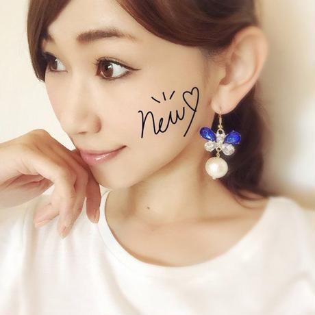 Butterfly×pearl pierce♡ビジューバタフライ×パールピアス♡送料無料