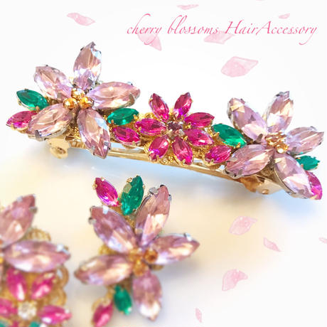 Cherry blossoms HairAccessory♡はんなり桜ヘアバレッタ♡