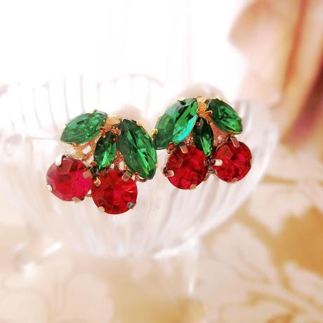 再入荷!cherry bijou pierce♡チェリービジューピアス♡