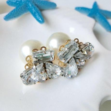 bijou shell pierce♡貝のビジューピアス♡