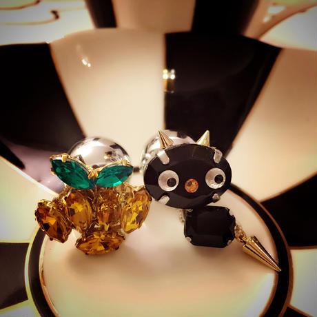 限定☆黒猫&かぼちゃのハロウィンピアス☆Happy Halloween