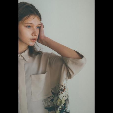 """CLANE クラネ """"PANEL FLOWER SHIRT"""" パネルフラワーシャツ"""