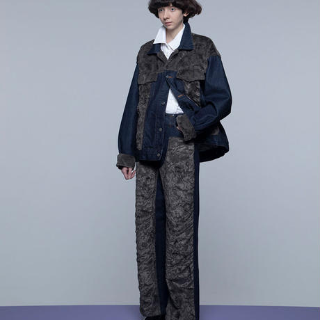 """Name. ネーム (WOMEN'S) """"FAUX FUR PATCHED TRUCKER JACKET"""" フェイクファーパッチドトラッカージャケット"""