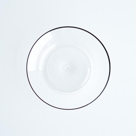 黒縁ガラス皿【M】