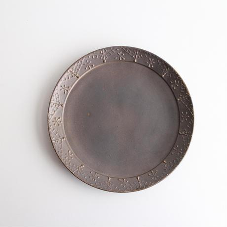 ブロンズ釉イッチンプレート皿