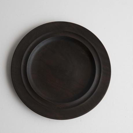 萬次郎家具 丸皿鉄媒染  a.8寸