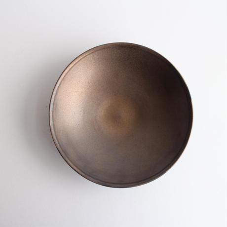 ブロンズ釉6寸リム鉢