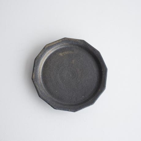 寺田昭洋 12 角皿5寸黒