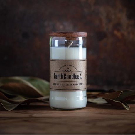 【Earth Candles Co.】Fresh New Zealand Pine ソイキャンドル アップサイクルボトル
