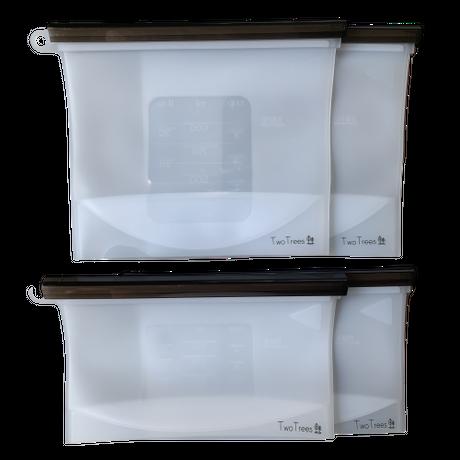 リユーザブル シリコン ストックバッグ 4枚セット