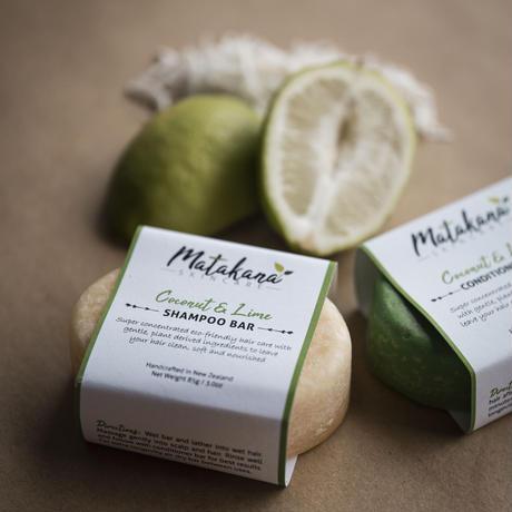 【Matakana Skincare】ココナッツ&ライムコンディショナーバー