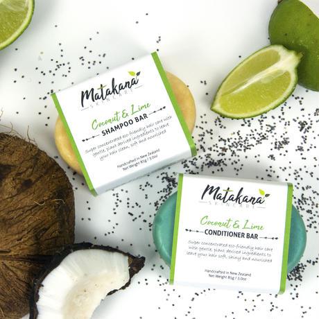 【Matakana Skincare】ココナッツ&ライムシャンプーバー