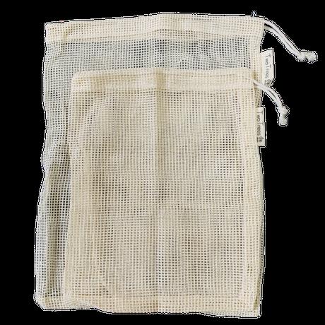 オーガニックコットン メッシュプロデュースバッグ 2枚パック