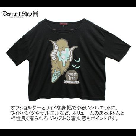 Deorart DRT2506 TR プリント ワイドカットソー [Devil horn ice]