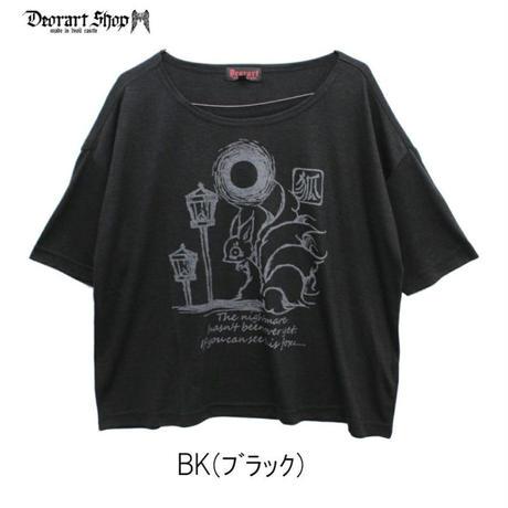 Deorart DRT2507 TR プリント ワイドカットソー [キュービ] 九尾の狐 妖怪