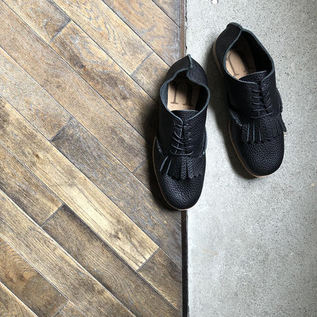 【U-807-16】KILT SHOES ( SHRINK BLACK )