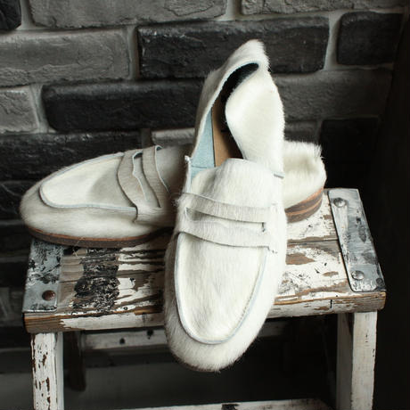 【OUTLET】LOAFER  COW  HAIR  WHITE (SIZE 7)