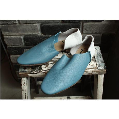 【OUTLET】2P SLIPON  SHRINK BLUE & SHRINK WHITE(SIZE 6H)