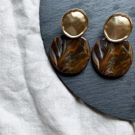 vintage gold brown marble pierce