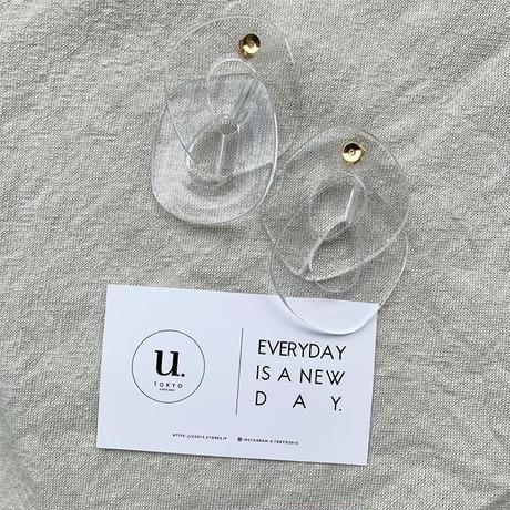 clear  chain pierce・earring