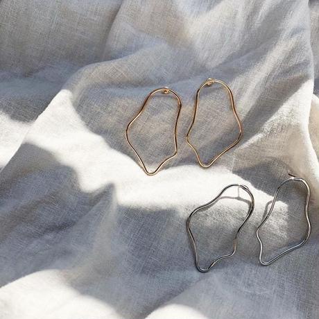 《予約販売》gold・silver wave pierce・earring