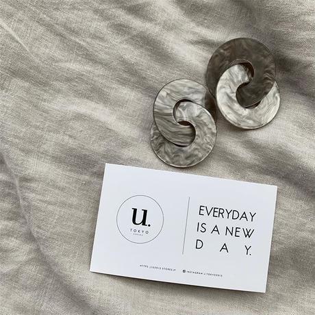 gray oval chain pierce・earring