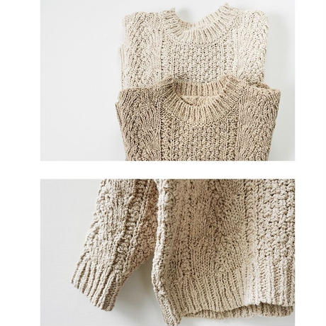 Spring cable knit