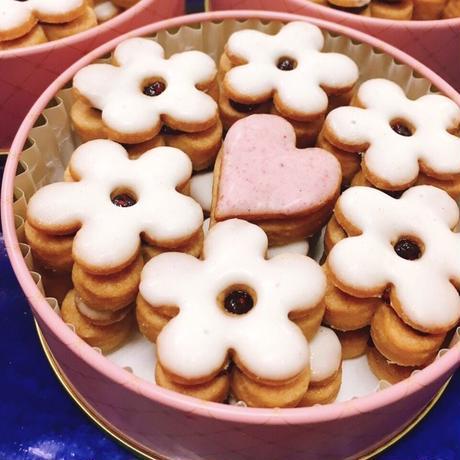 お花ジャムクッキー