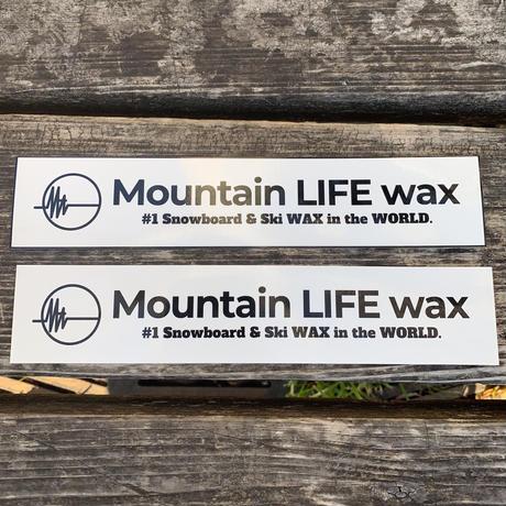 Mountain LIFE wax  ステッカー   黒枠有タイプ