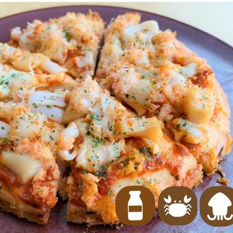 グルテンフリー・ずわい蟹と帆立・ヤリイカのピザ 1枚