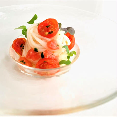 <パスタセット>パスタソース トマトとバジル×2パック 米の純白麺×2パック  セット