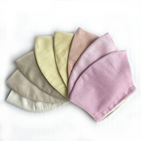 日本製 ワイルドシルク100%マスク /  草木染  / ライトピンク / コチニール (Wild Silk)