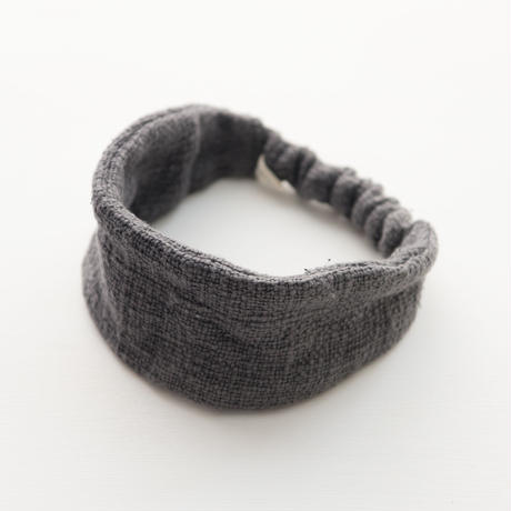 ORGANIC COTTON  hair band  straight   Gray