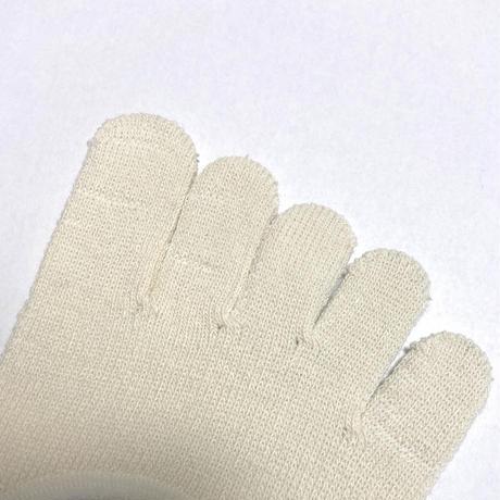 日本製 ワイルドシルク100%くつ下 /  絹 / シルク 五本指くつ下(Wild Silk)  傷アリ