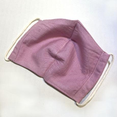 日本製  / ワイルドシルク100%マスク /  草木染  / ピンク(Wild Silk)