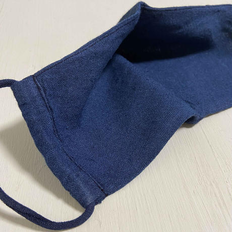 日本製 ワイルドシルク100%マスク /  草木染  / 本藍染(Wild Silk)