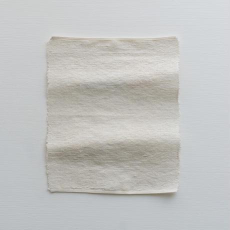キビソ  シルク 顔 体洗い HARD    タオル  S ホワイト