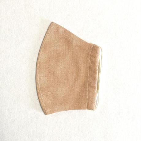 日本製  / ワイルドシルク100%マスク /  草木染  / オレンジ(Wild Silk)