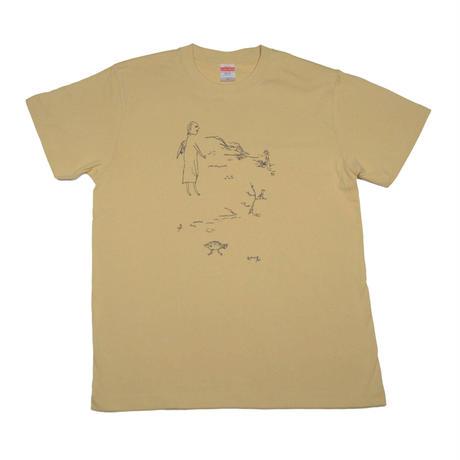 天使と魚Tシャツ
