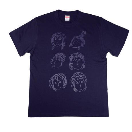 いろいろな顔Tシャツ