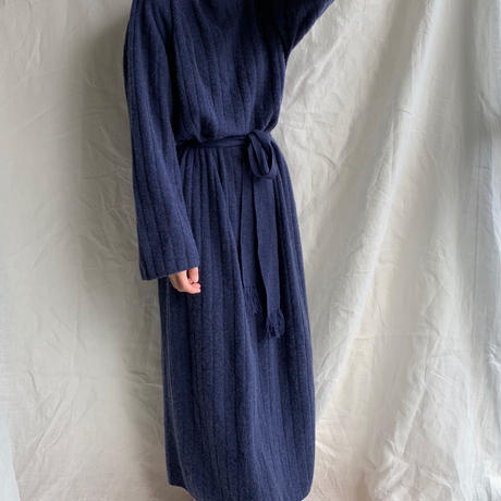 calme ×Miske CASHMERE WIDE RIB STICH DRESS