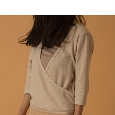 cachecoeur thermal tops(BEIGE)