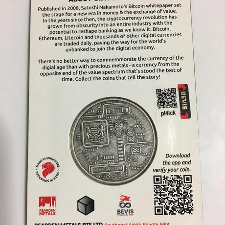 ライトコイン モチーフ チャド共和国 CFAフラン アンティーク版 1オンス 銀貨 シルバー クリプトコイン 仮想通貨 暗号通貨 Chad Crypto Coins Series  Litecoin