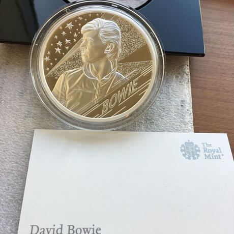 デビッドボウイ 5オンス 10ポンド銀貨 シルバープルーフコイン 2020年 英国 イギリス ロイヤルミント ミュージック David Bowie Royal Mint